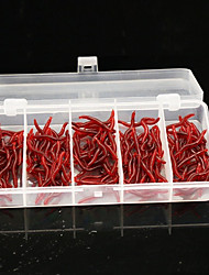 150Pcs/Box 3.7cm/0.23g Emulational Bloodworm Soft Fishing Lures Packing in Plastic Box