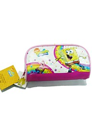 Spongebob Squarepants White Cartoon PVC Waterproof Zippers Makeup Bag