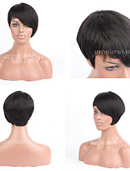 Premierwigs 8A Fashion Wholesale Short Straight Natural Color Capless Brazilian Virgin Human Hair Wigs For Black Women