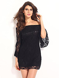 Women's  Casual  Sexy lace Cute  Dress  (lace)