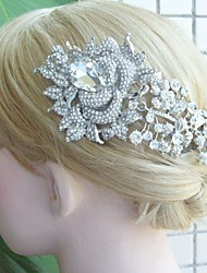 Wedding Hair Comb Bridal Hair Accessories Silver-tone Rhinestone Flower Hair Comb Bridal Hair Comb Wedding Headpiece