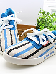 Girls' Shoes Casual Comfort Fabric Fashion Sneakers Blue / Green / Red