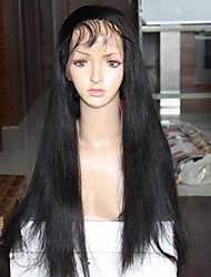 Cheap 6A Grade Yaki Straight Wigs For Black Women Brazilian Virgin Hair Full Lace Wigs