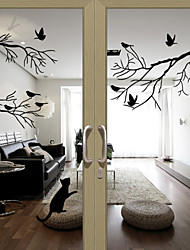 Window Stickers Window Decals Style Birds on The Tree PVC Door stickers