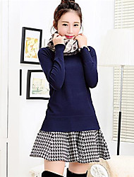 Women's Scarf Solid Color Fashion Sweaters(Scarf Included)