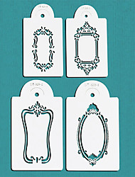 Photo Frames Cake Stencil Set,Cake Top Stencil Decoration,Cake Side Decorating Stencils,ST-329