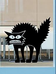 stickers muraux de style mur de décalcomanies murales Halloween Thriller chat pvc autocollants