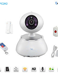 Snov WIFI IP PTZ Camera with 3pcs Wireless Alarm Detectors, Motion Detection, Night Vision and APP SV-VPC2K2