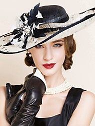 Women's Flax Headpiece-Wedding Special Occasion Hats 1 Piece
