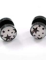 Earring Star Stud Earrings Jewelry Women / Men / Couples Daily / Casual / Sports Acrylic 2pcs Silver
