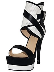 Women's Spring Summer Fall Leatherette Office & Career Dress Party & Evening Stiletto Heel Multi-color