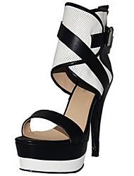 Zapatos de mujer - Tacón Stiletto - Punta Abierta - Sandalias - Oficina y Trabajo / Vestido / Fiesta y Noche - Semicuero - Multicolor