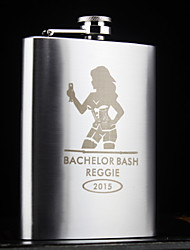 Personalized Stainless Steel Hip Flasks 8-oz Lady  Flask