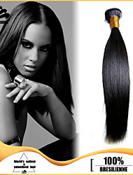 "3pcs/lot 12""-30"" Brazilian Virgin Hair Jet Black Silky Straight Human Hair Extensions Hair Weaves Tangle Free"