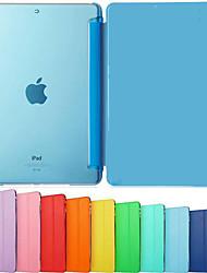 dsb® cuir PU trois volets ultra mince avec Crystal Hard Cover Retour à puce de cas de support pour iPad air