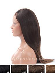 Premierwigs de qualité 8a 8 '' - 24 '' perruques européennes vierge yaki de lumière dentelle de base de soie avant avec des cheveux de