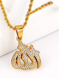 WesternRain New fashion  Muslim Allah Pendants Necklaces Women's&men's Jewelry  For Necklaces Items