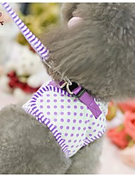 FUN OF PETS® Lovely Dots Harness with 120cm Leash  for Pets Dogs(Assorted Sizes and Colours)