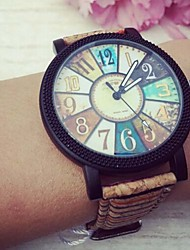 Women's Fashion Watch Quartz PU Band Vintage Brown Multi-Colored Brand