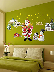 Merry Christmas Plane Wall Stickers Wall Decor , PVC Removable