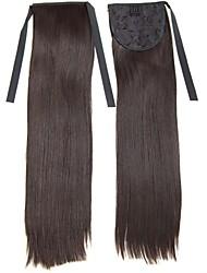 22 pouces de cheveux synthétiques pince droite en ruban queue de cheval