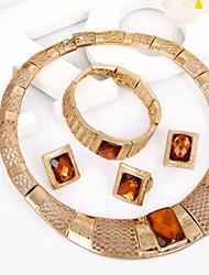 WesternRain Women's Gold-plated  Rhinestone Jewelry Set