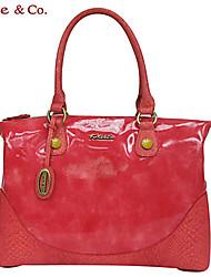Kate & Co.® Women PVC Shoulder Bag Yellow / Red - TS-00145S