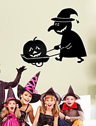 citrouille mur homme pvc stickers de décoration de Halloween