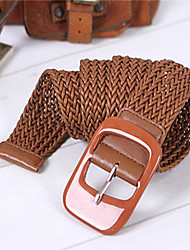 Korean Decorative Belt Wax Rope Braided Leather Belt Wide Belt Women's Belt