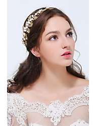 Women's Gold / Alloy Headpiece-Wedding / Special Occasion / Casual Headbands 1 Piece Clear / Ivory