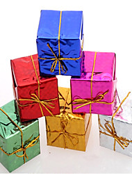12pcs paquet enveloppé ornements de cadeau de Noël