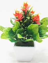 Plastic Plants Artificial Flowers with Vase