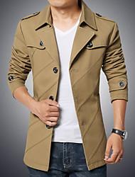 Men's Single Breasted Fashion Slim Epaulet Jacket