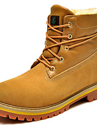 Women's Shoes Suede Flat Heel Fashion Boots Boots Outdoor / Office & Career / Casual Yellow / Khaki