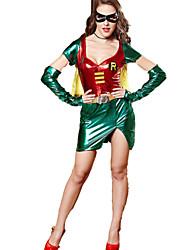 Costumes - Superhéros - Féminin - Halloween / Noël / Carnaval - Robe / Gants / Masque