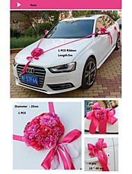 Flower Heart for Car Decoration Set of 8