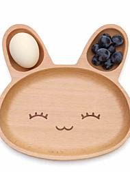 Wooden  Children Breakfast Tray Meal Rabbit Lovely Fruit Tray