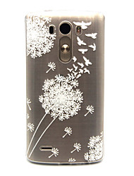 Dandelion Pattern TPU Relief Back Cover Case for LG G3