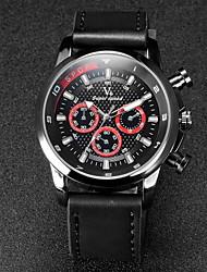 V6® Men's F1 Design Leather Strap Quartz Casual Watch Cool Watch Unique Watch
