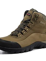 Men's Hiking Shoes Leather Gray / Khaki