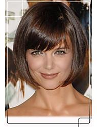 Katie Holmes Bob Hair Style Human Virgin Remy Hair 1 inch Monofilament Top Perfect Capless Wigs