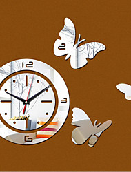 3D Acrylic Mirror Wall Clock Mirror Surface Sticker