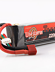 WILD SCORPION A battery of 2200mAh 11.1V, 35C 3S Remote Control Aircraft Battery Battery Model