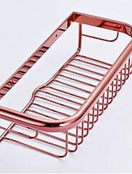 Cesto para Box de Banheiro / Gadget de Banheiro , Neoclássico Ouro Rosa Montagem de Parede
