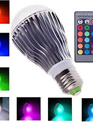 E27 3W 6W 10W RGB 16 Color Changing LED Crystal Light Bulb Lamp+IR Remote Control