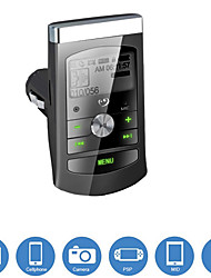 UCar Charger with FM Transmitter MP3 Player Function, Support TF Memory Input / 3.5mm Line-In