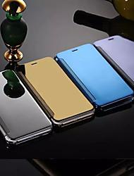 Назначение iPhone 8 Plus iPhone 6 iPhone 6 Plus Чехлы панели Зеркальная поверхность Флип Чехол Кейс для Сплошной цвет Твердый Металл для