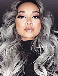 Glueless Wig Human Hair Lace Front Wigs Grey Body Wave wig