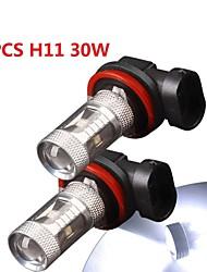 2 x bianco ad alta potenza 30w h11 condotto la luce di lampadine della nebbia di DRL / anabbagliante luce 12V-24V