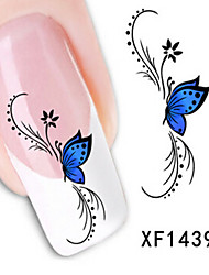 1 PCS 3D Water Transfer Printing Nail Stickers XF1439